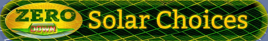 Zero Down Solar Choices
